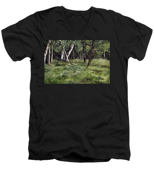 View From My Studio Men's V-Neck T-Shirt by Laurie Rohner