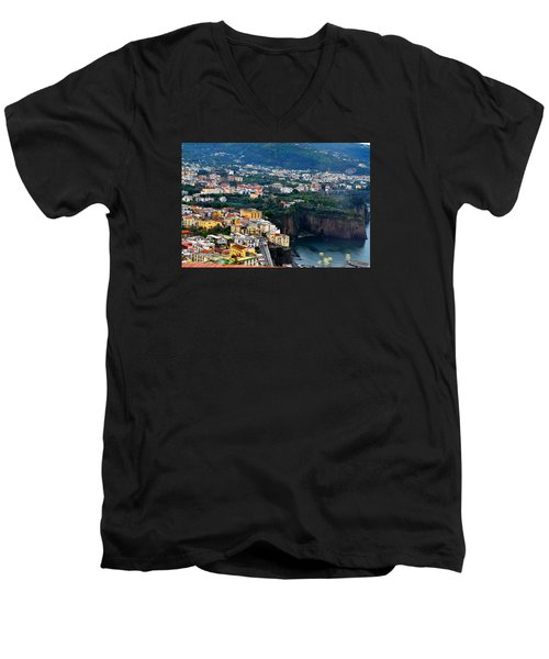 Men's V-Neck T-Shirt featuring the photograph View From My Window by Richard Ortolano