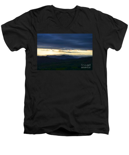 View From Palomar 9633 Men's V-Neck T-Shirt by Sharon Soberon