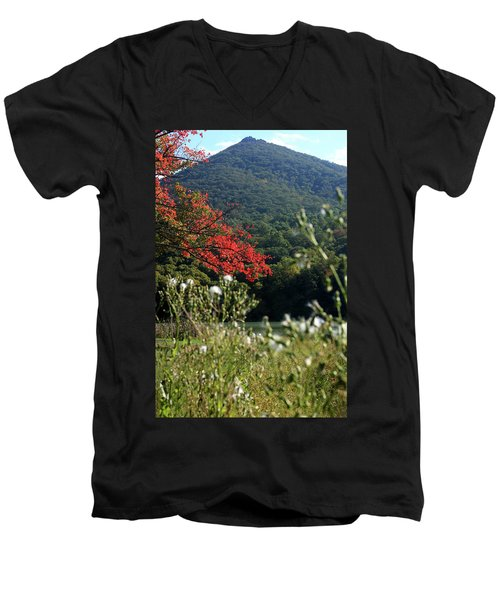 View Of Sharp Top In Autumn Men's V-Neck T-Shirt