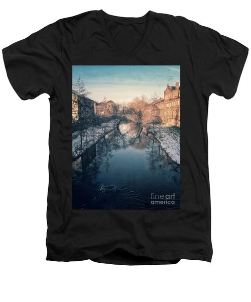 View Onto The River  Men's V-Neck T-Shirt