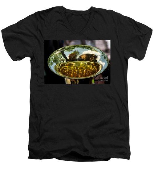 View Through A Sousaphone Men's V-Neck T-Shirt