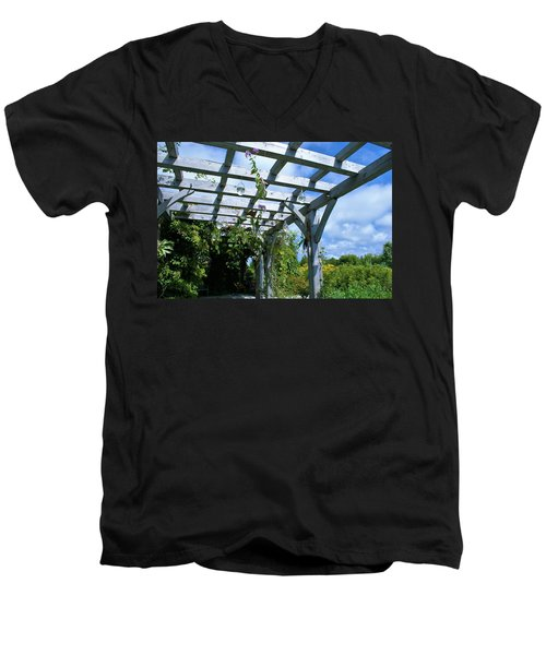 View To The Sky Men's V-Neck T-Shirt by Lois Lepisto