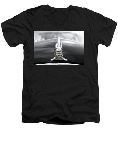 Viking Hood Ornament II Men's V-Neck T-Shirt by Helen Northcott
