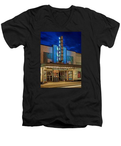 Village Theater Men's V-Neck T-Shirt by Jerry Gammon