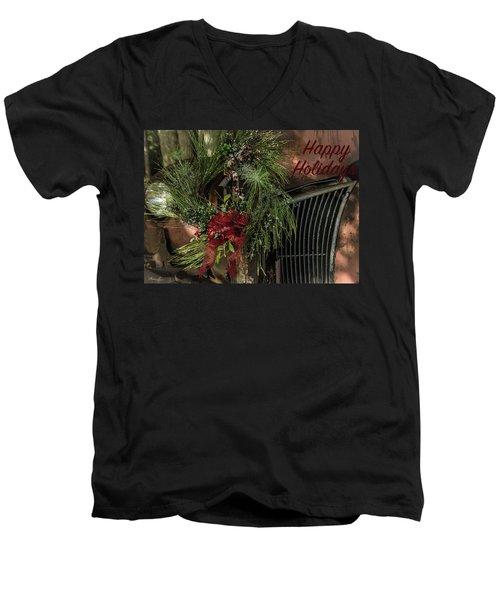 Vintage 40 Ford Truck Christmas Men's V-Neck T-Shirt