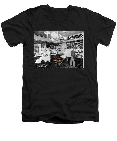 Vintage Barbershop 4 Men's V-Neck T-Shirt