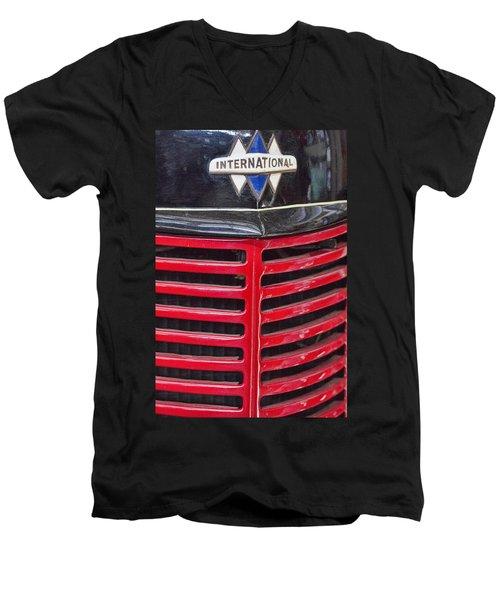 Vintage International Truck Men's V-Neck T-Shirt by Douglas Barnard