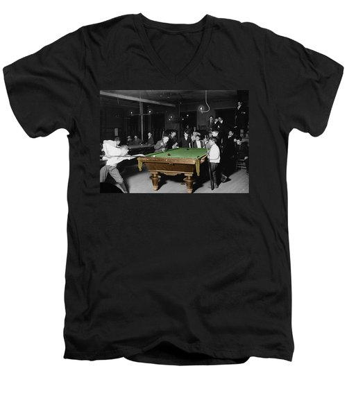 Vintage Pool Hall Men's V-Neck T-Shirt