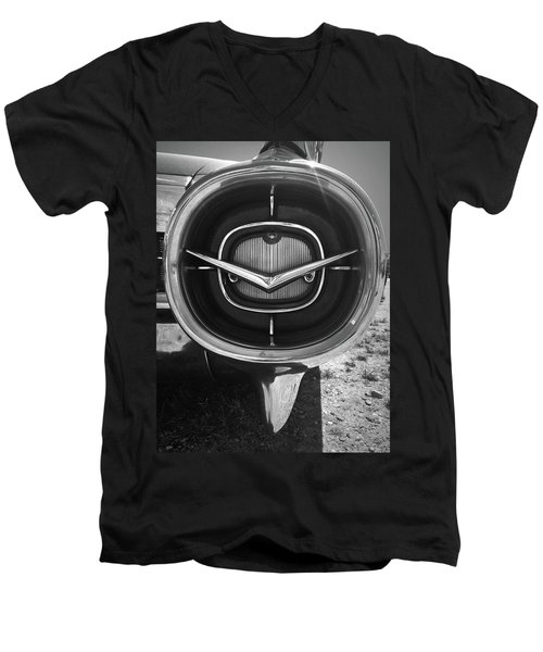 Vintage Tail Fin In Black And White Men's V-Neck T-Shirt