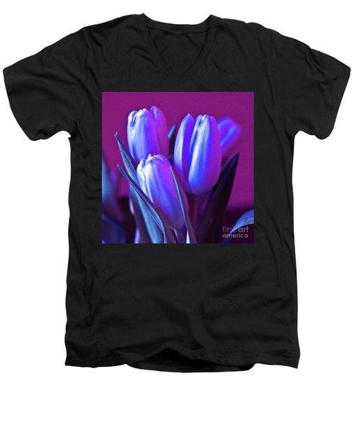 Violet Poetry Of Spring Men's V-Neck T-Shirt