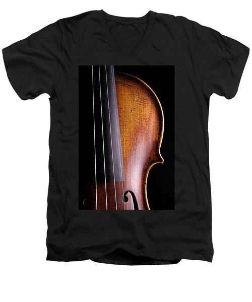 Violin Isolated On Black Men's V-Neck T-Shirt
