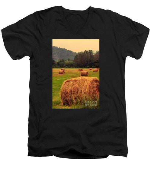 Virginia Evening Men's V-Neck T-Shirt by Thomas R Fletcher