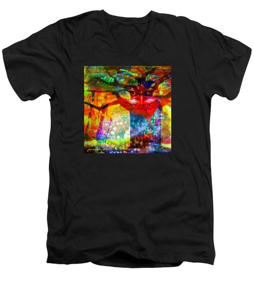 Vision The Tree Of Life Men's V-Neck T-Shirt