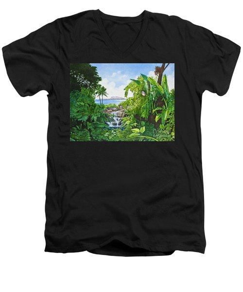 Visions Of Paradise Ix Men's V-Neck T-Shirt by Michael Frank