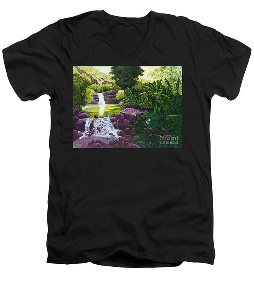 Visions Of Paradise X Men's V-Neck T-Shirt