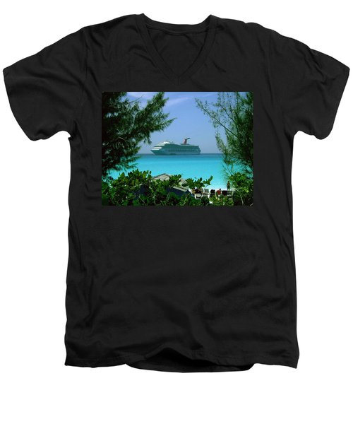 Visiting Paradise Men's V-Neck T-Shirt
