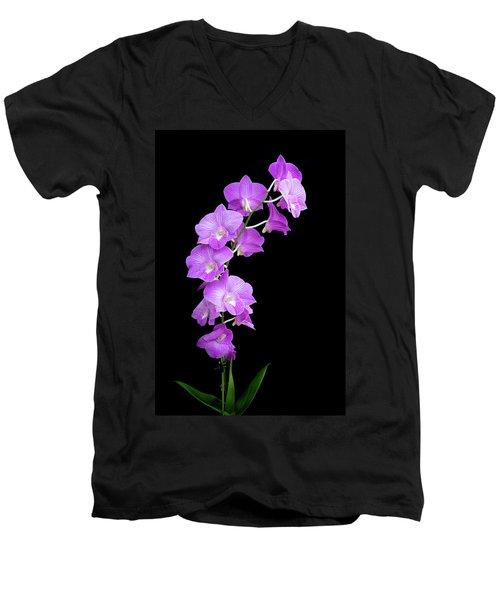 Vivid Purple Orchids Men's V-Neck T-Shirt