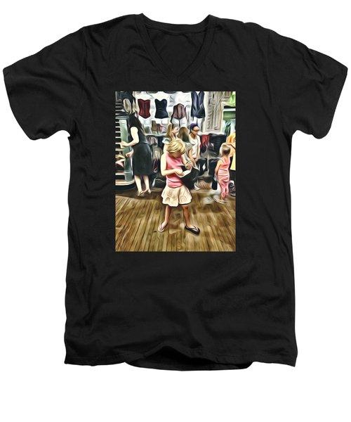 Men's V-Neck T-Shirt featuring the photograph Vivo by Lanita Williams