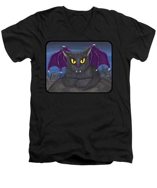 Vlad Vampire Cat Men's V-Neck T-Shirt