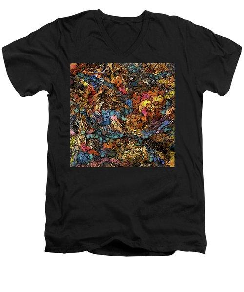 Volcanic Flow Men's V-Neck T-Shirt
