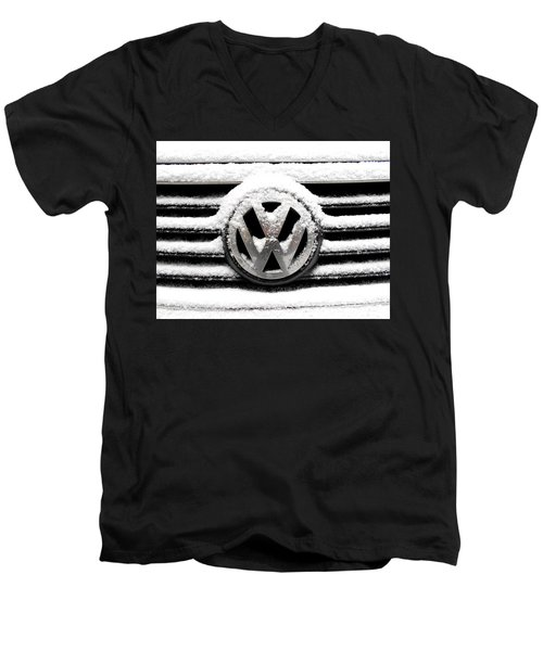 Volkswagen Symbol Under The Snow Men's V-Neck T-Shirt