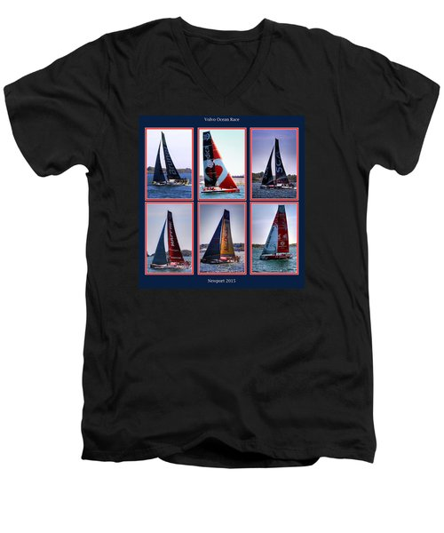 Volvo Ocean Race Newport 2015 Men's V-Neck T-Shirt