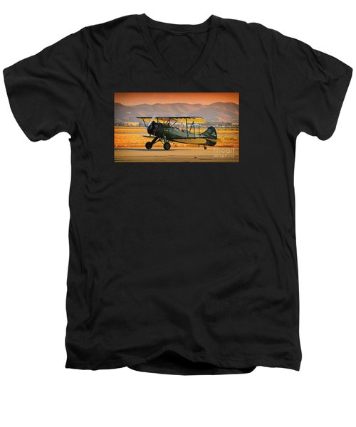 Waco Upf-7  Version 2 Men's V-Neck T-Shirt