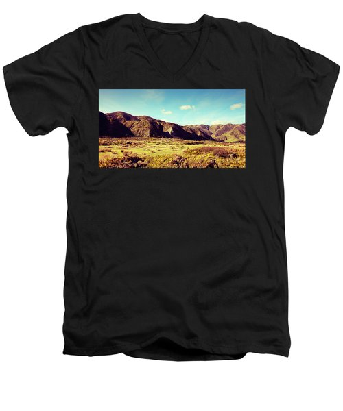 Wainui Hills Men's V-Neck T-Shirt by Joseph Westrupp