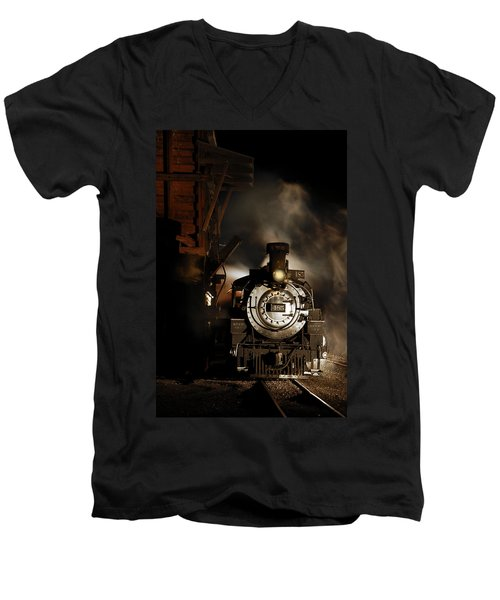 Waiting For More Coal Men's V-Neck T-Shirt