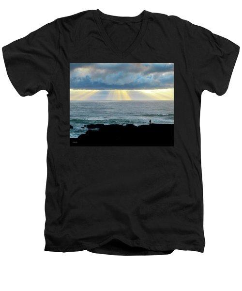 Waiting For The Rain. Men's V-Neck T-Shirt