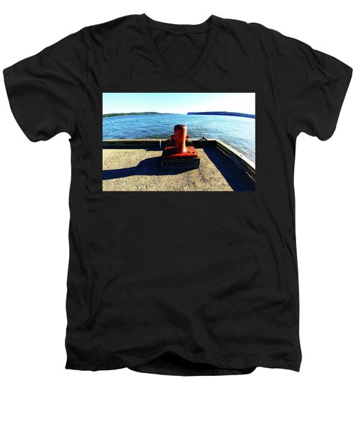 Waiting For The Ship To Come In. Men's V-Neck T-Shirt