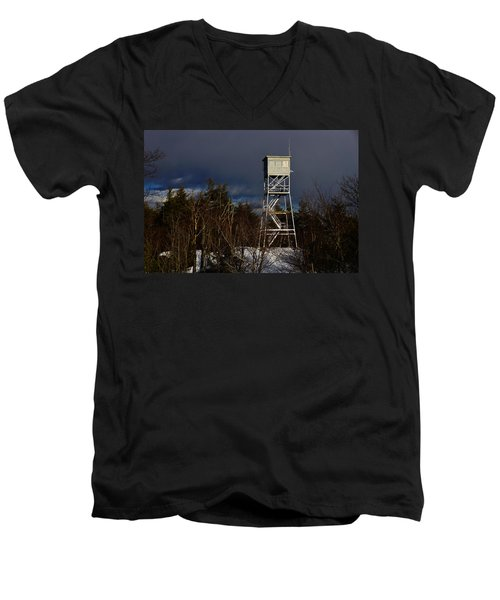 Waiting Tower Men's V-Neck T-Shirt