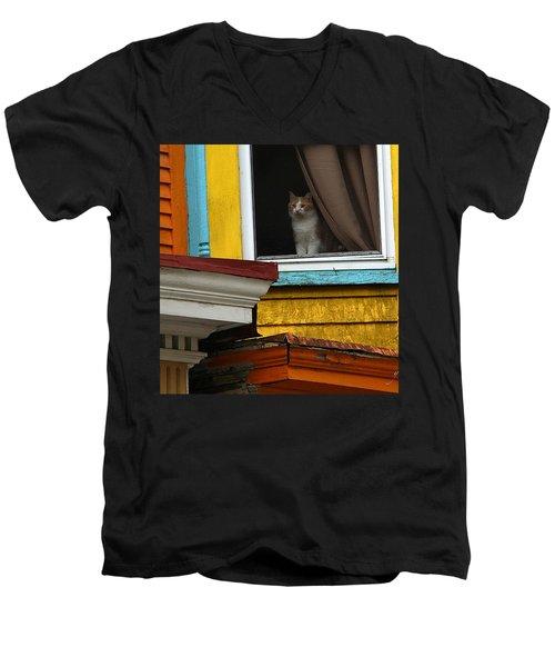 Waiting... Men's V-Neck T-Shirt by Yvonne Wright