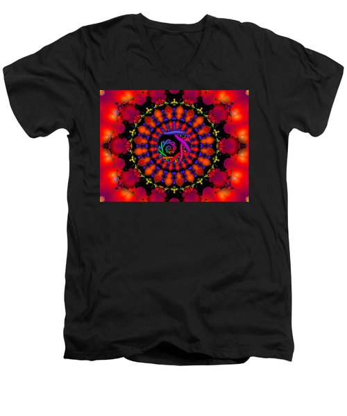 Men's V-Neck T-Shirt featuring the digital art Wake by Robert Orinski