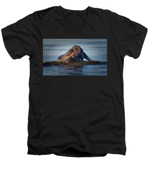 Men's V-Neck T-Shirt featuring the photograph Wake Up by Randy Hall