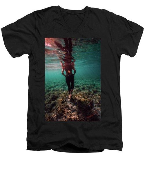 Walk Away Men's V-Neck T-Shirt