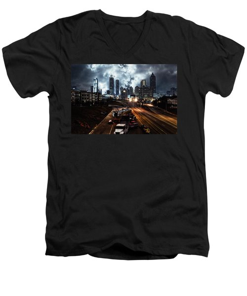 Walking Dead Tribute Downtown Atlanta Georgia  Men's V-Neck T-Shirt