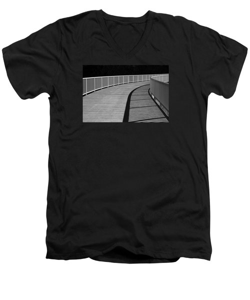 Men's V-Neck T-Shirt featuring the photograph Walkway by Chevy Fleet