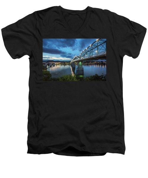 Walnut At Night Men's V-Neck T-Shirt by Steven Llorca