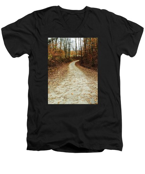 Wandering Road Men's V-Neck T-Shirt by Russell Keating