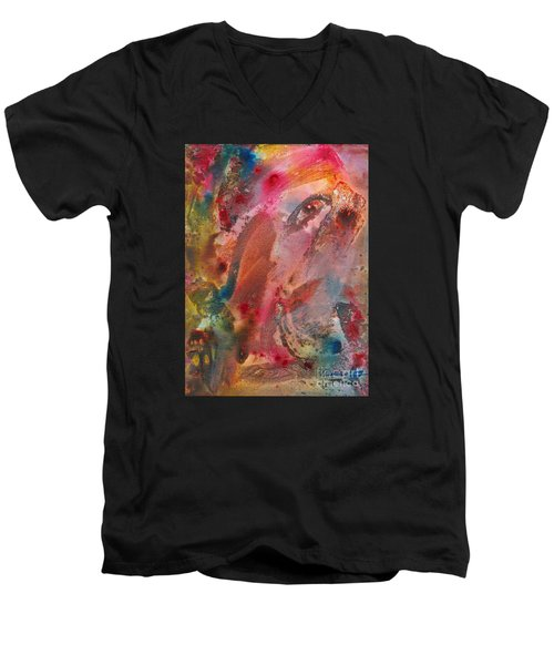 Wanting To See Or Not Men's V-Neck T-Shirt by Denise Hoag