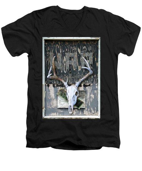 War Skull Men's V-Neck T-Shirt