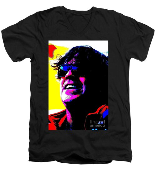 Men's V-Neck T-Shirt featuring the photograph Warhol Robbie by Jesse Ciazza