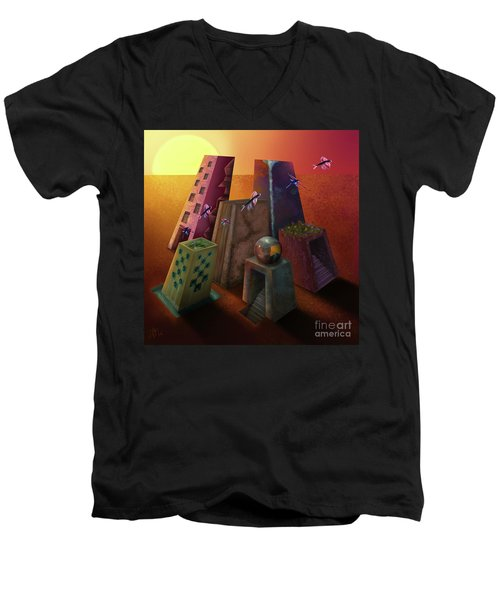 Warm Silence Men's V-Neck T-Shirt
