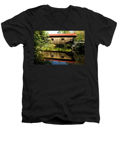 Warner Covered Bridge Men's V-Neck T-Shirt