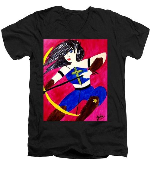 Warrior Queen  Men's V-Neck T-Shirt