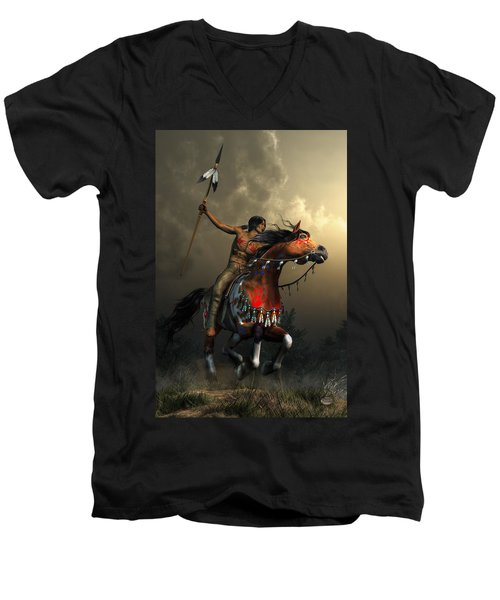 Warriors Of The Plains Men's V-Neck T-Shirt