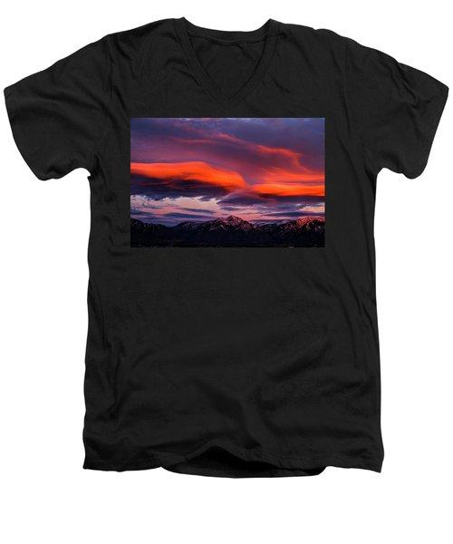 Wasatch Sunrise II Men's V-Neck T-Shirt