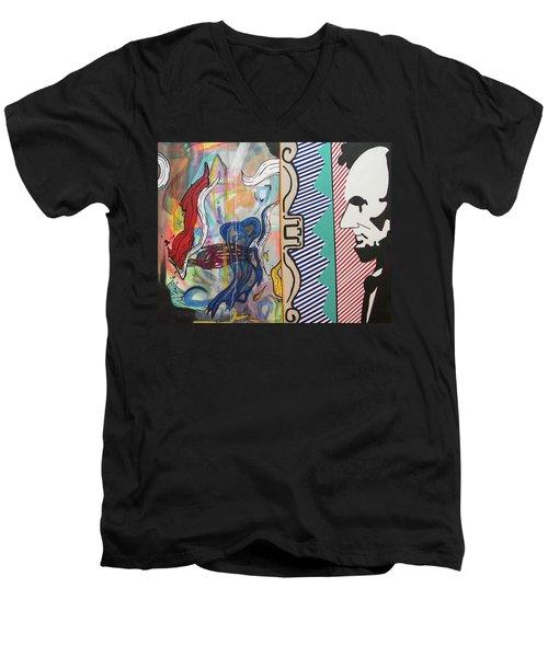 Washingstein Dc Men's V-Neck T-Shirt